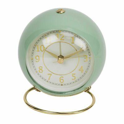 Widdop Vintage Retro Style Pastel Alarm Clock Soft Pastel Green Car Dial Clock