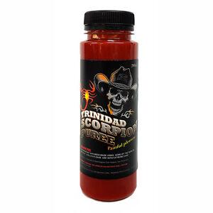 Chilli Sauce - TRINIDAD MORUGA SCORPION - Chilli Puree - Mash - 200ml 86%