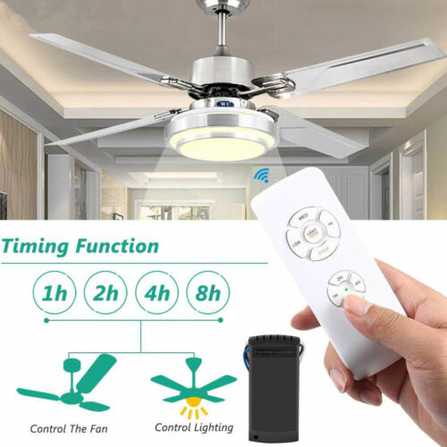 Wireless 15M Timing Remote Control Receiver Universal Ceiling Fan Lamp Light Kit Home & Garden