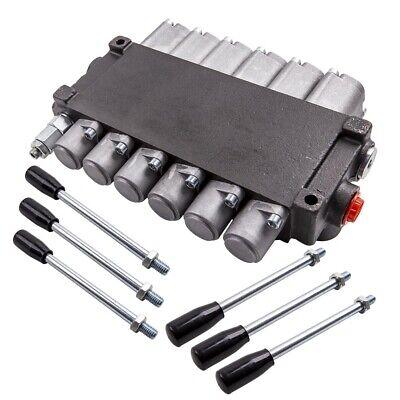 6 Spool Hydraulic Backhoe Directional Control Valve 2 Joysticks 11 Gpm