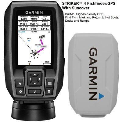 Garmin Chirp STRIKER™ 4 Fishfinder/GPS With Suncover And 77/200 kHz Transducer  200 Khz Gps Fishfinder