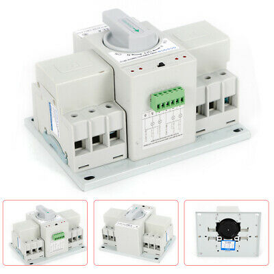 3p 63a Dual Power Automatic Transfer Switch For Generator Changeover Switch 110v