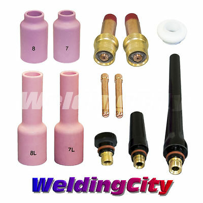 Tig Welding Gas Lens Accessory Kit 116 For Torch 171826 T13b Us Seller