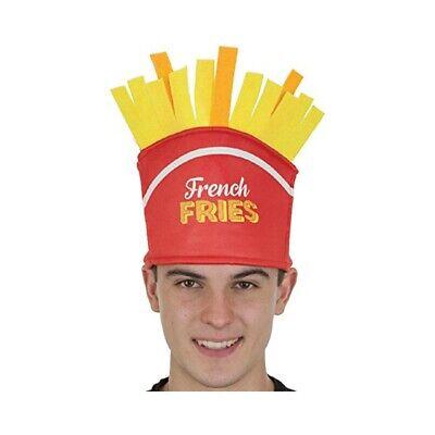French Fries Hat Fast Food Employee Costume McDonald's Burger King Food Fry - Mcdonald Kostüm