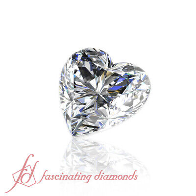 .50 Ctw Certified Heart Shaped Diamond - Very Good Cut With Perfect Measurements