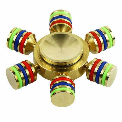 Brass Hand Spinner Fidget All Metal Desk EDC Focus Toy Kids Adult DIY with Case