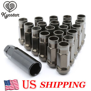 20PC Titanium Color Forged Steel Extended Wheel Lug Nuts 12x1.5 For Honda Toyota