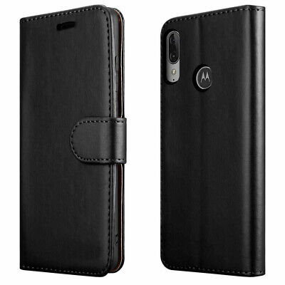 PU Leather Flip Cover For For Motorola Moto E6 Plus Stand Case Wallet Card UK