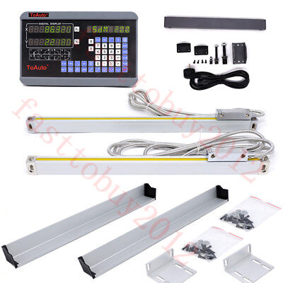 3001000mm 2 Axis Digital Readout Dro Precision Linear Scales Encoder Lathe Mill