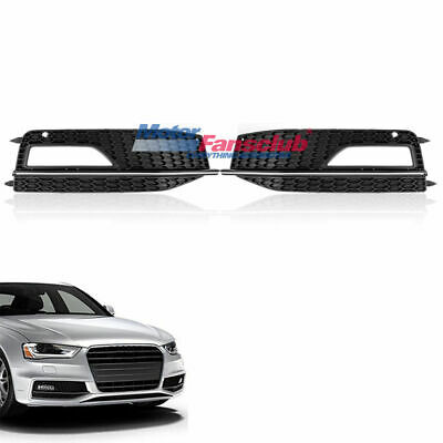 Front Fog Light Lamp Grille Grill Cover For AUDI A4 S4 B8.5 2013-2016 2014 2015