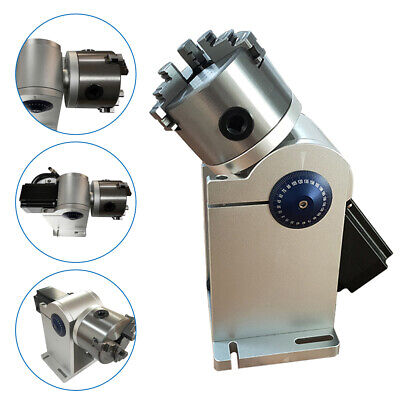 80mm Laser Rotation Axis Rotary Chuck Attach For Laser Marking Engraving Machine