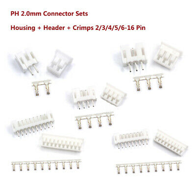 Ph 2.0mm Connector Sets Housing Header Crimps Jst Ph Style 23456-16 Pin