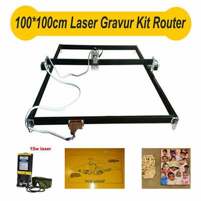 Cnc Laser Engraver Kit 15w Laser Module 100100mm Router Desktop Engraver Us