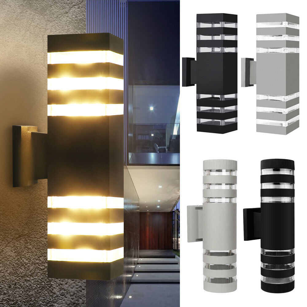 Modern Exterior LED Wall Light Sconce Outdoor Porch Dual Head Wall Lamp Fixture