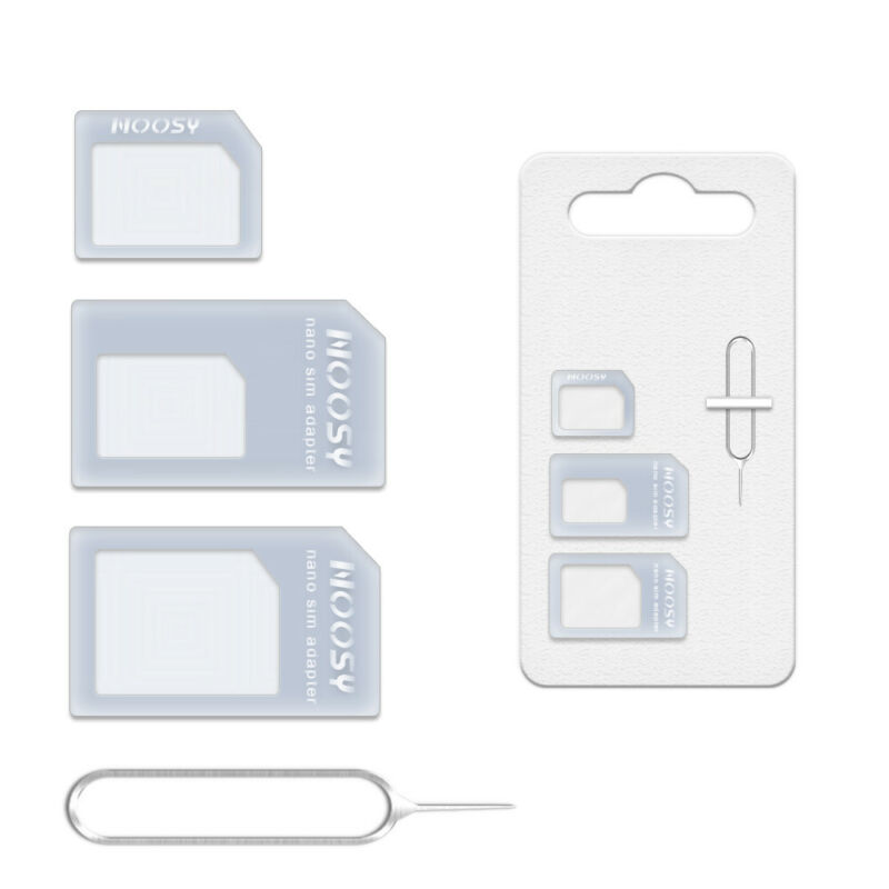 4 In 1 Nano To Micro To Standard SIM Card Adapter Pin Converter Set Cellphone