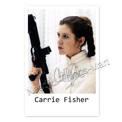 Carrie Fisher (†) Leia Organa - Autogrammfotokarte ca. 10x15cm laminiert [AK3]