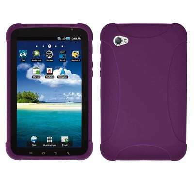 AMZER Silicone Skin Jelly Case Cover For Samsung GALAXY Tab GT-P1000 - Purple for sale  Shipping to India