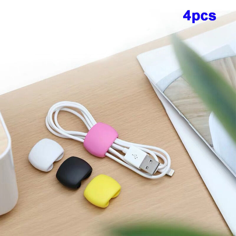 Adhesive Car USB Charger Holder Tie Cord Clip Drop Cables Tidy Organizer