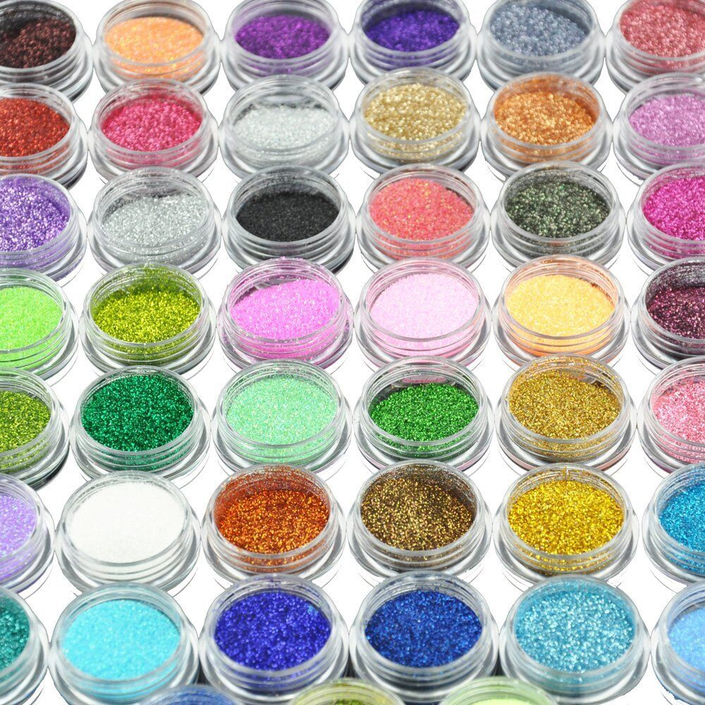Home Decoration - 45 Color Nail Art Glitter Decoration Salon Home Use 598