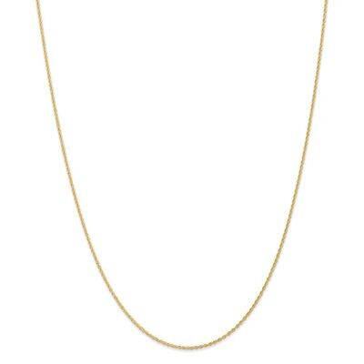 Real 14kt Yellow Gold 1.1mm Baby Rope Chain; 18 inch 18 Inch Baby Rope Chain
