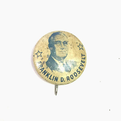 Franklin Roosevelt FDR pin pinback button political presidential campaign 1936