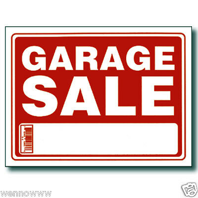 10 Pack 9 X 12 Inch Red White Flexible Plastic Garage Sale Sign