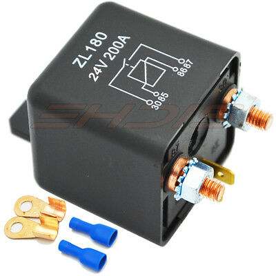 12v Dc 200a Heavy High Current 4 Pins Relay Switch For Automotive Car Truck Usa