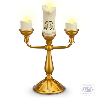 Disney Parks Lumiere Light-Up Figure Beauty and the Beast Figurine Candlestick