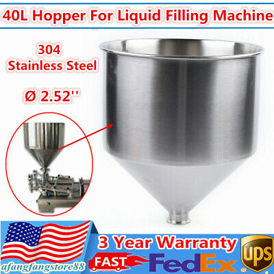 40l Filling Machine Hopper Stainless Steel For Paste Liquid Filler 2.52 64mm
