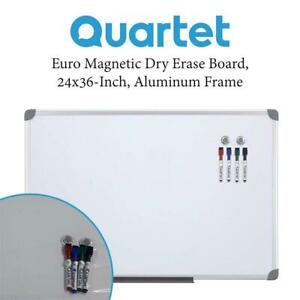 NEW Quartet 3413803767 Euro Magnetic Dry Erase Board, 24x36-Inch, Aluminum Frame Condtion: New, Dry Erase Board