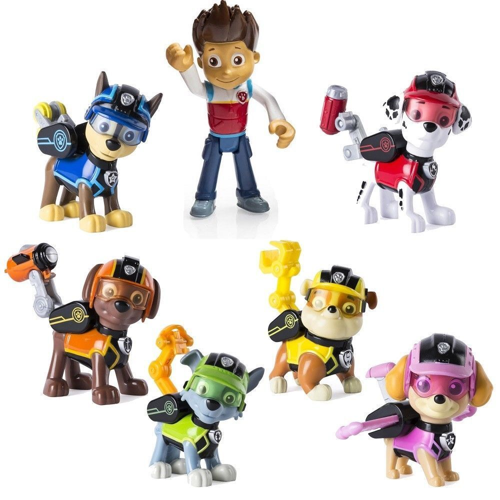 Paw Patrol 12cm Action Figures Pack Rescue Team Pack of 7 Fi