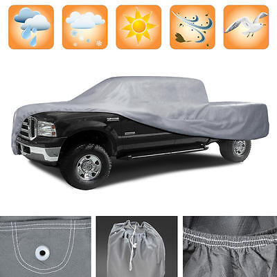 3 Layer Premium Truck Cover Outdoor Tough Waterproof Lining Pickups Size XL2