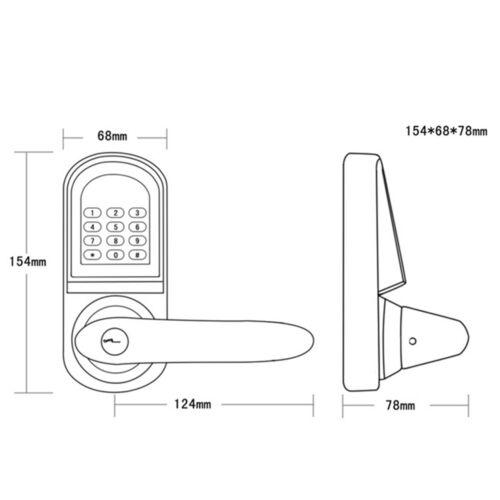 Electronic Left//Right Digital Door Lock Keyless Code Entry Security Single Latch