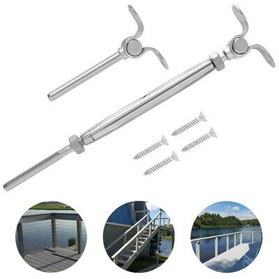 316-Stainless Steel Adjustable Angle Cable Railing Hardware Kit fit Wire Rope