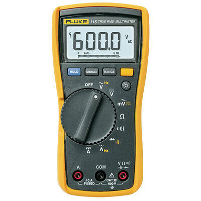 Fluke 115 Compact True Rms Digital Multimeter Dmm With Test Leads And Backlight