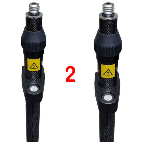Universal 2 Meter Three Position Carbon Fiber GPS Pole - Set of Two (2)
