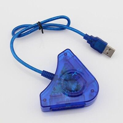 Adaptador doble de PS2 a PC x USB PS3 PS1 conversor desdoblador...