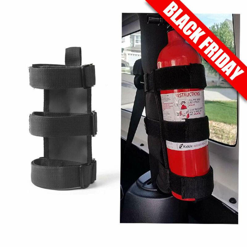 Adjustable Roll Bar Fire Extinguisher Mount Holder 3 lb for Jeep Wrangler JK JKU