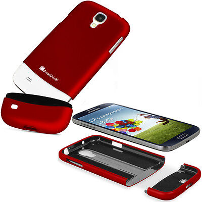 Red iSlide Hard Slider Rubber Case Cover Skin for Samsung Galaxy SIV S4 i9500 on Rummage
