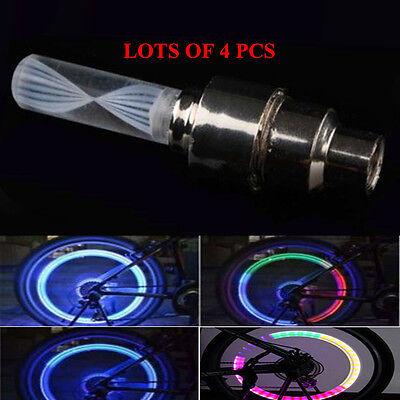 1PC Bicycle Light Tyre Valve Caps Wheel Spokes LED Light Bike Accessories NJ