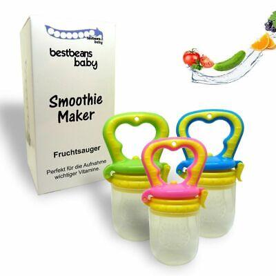 bestbens Baby Smoothie Maker Fruchtsauger Schnuller für Früchte Obst Gemüse uvm.