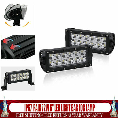 For Bobcat T110 T140 T180 T190 T250 T300 T320 Pair 6 Led Light Bar Fog Lamp