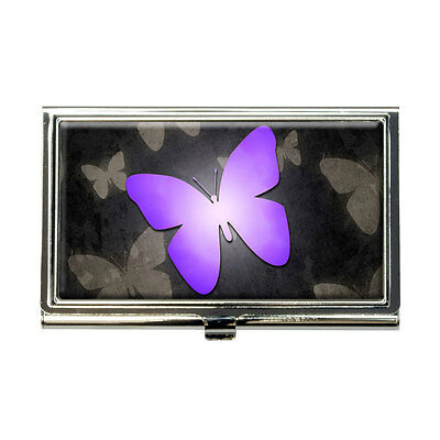 Purple Butterfly Butterflies Business Credit Card Holder Case
