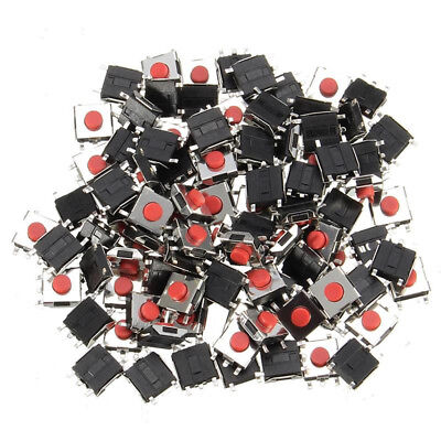 100pcs 663mm 5pin Smd Red Tactile Push Button Switch Tact Switch 6mm6mm3mm