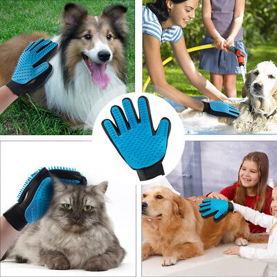 Pet Cat Dog Grooming Bath Hair Double-sided Massage Mitt Fur Cleaning Comb Brush