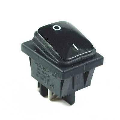 Black Waterproof Rocker Switch 4pin 2 Position 16av250ac 20aac125v