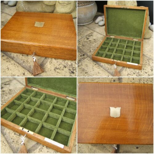WONDERFUL 19C VICTORIAN SOLID OAK ANTIQUE JEWELLERY BOX - FAB INTERIOR