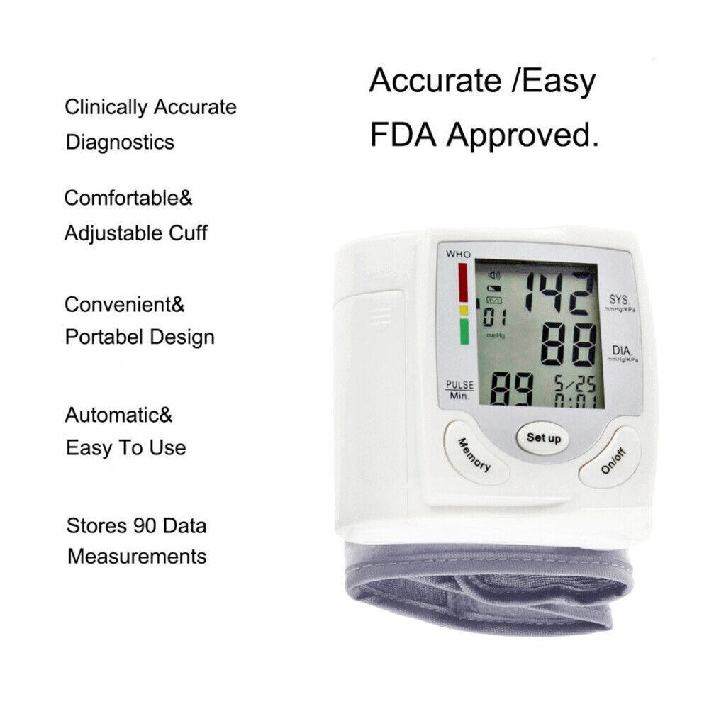 Wrist Type Cuff Blood Pressure Sphygmomanometer Blood Presur