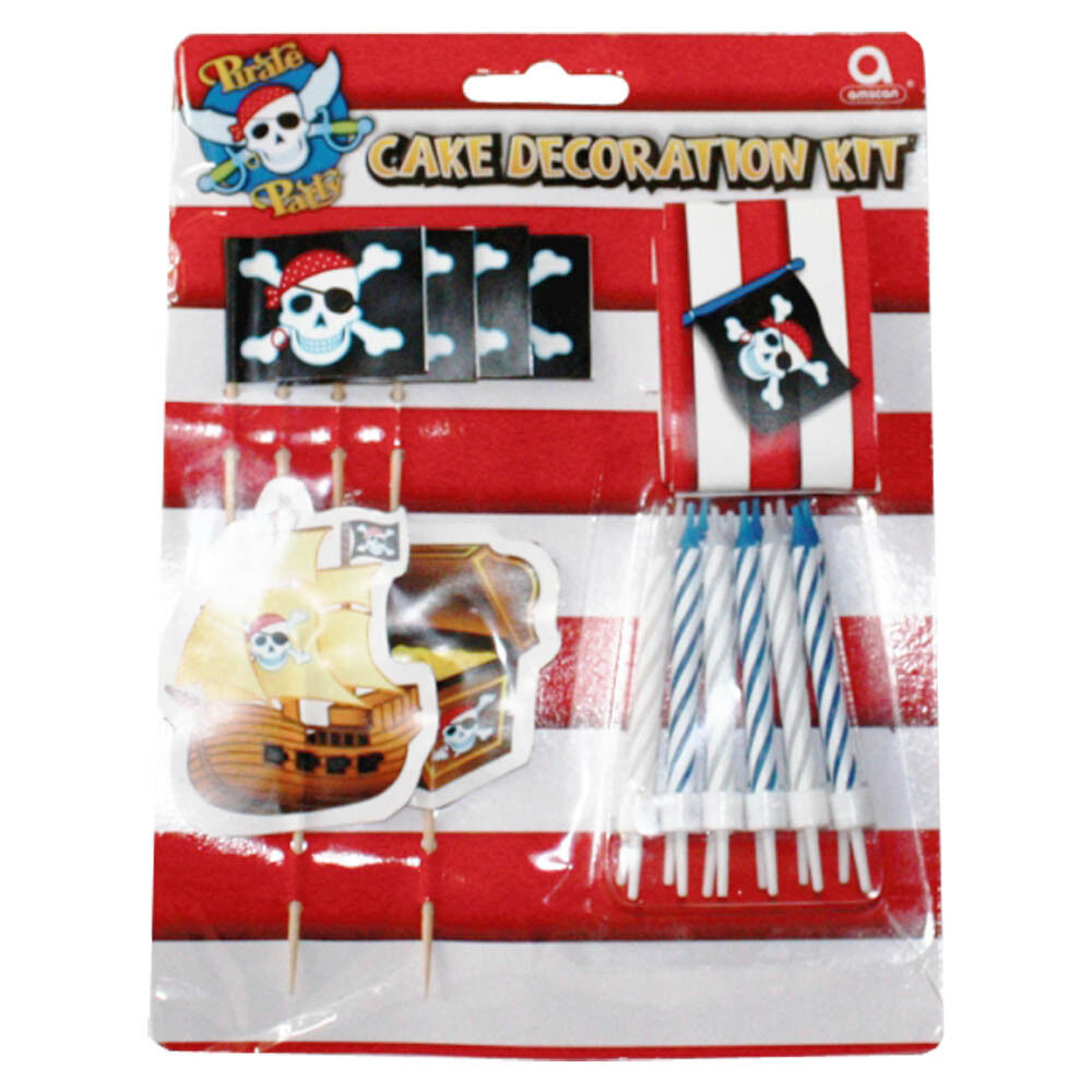 19 pirate stripe disposable birthday cake decoration kit ebay