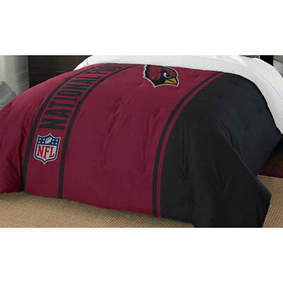 (NFL ARIZONA CARDINALS FULL COMFORTER - Football Helmet Silhouette Sports Bedding)
